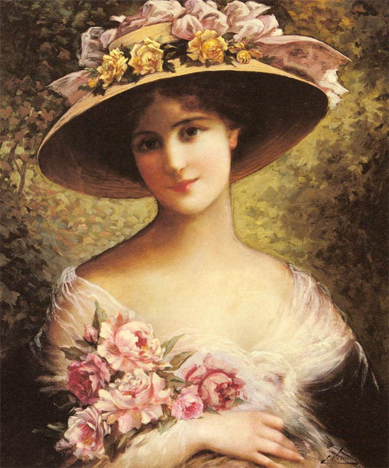 The Fancy Bonnet by Emile Vernon, Date unknown