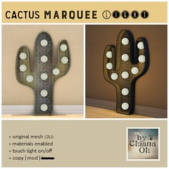 bby by Chiana Oh - Little FishiesChiana Oh - Hot Sun Wall Decor y Chiana Oh - Cactus Marquee Light