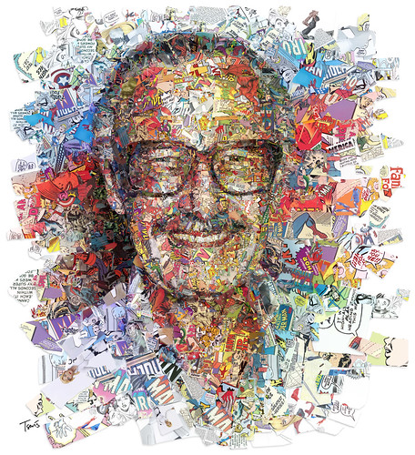 Stan Lee by his superheroes (for The Hollywood Reporter)
