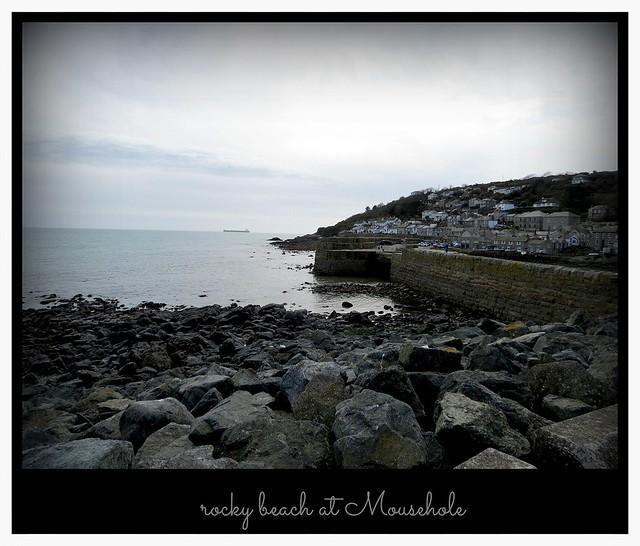 a rocky bit of beach