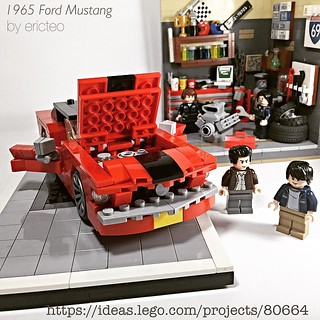 The 1965 Ford Mustang - support it at: https://ideas.lego.com/projects/80664 making an appearance at #Phlug #brickxhibit at Resorts World, starting April 18, 2015. Open to the public. Tell your friends!