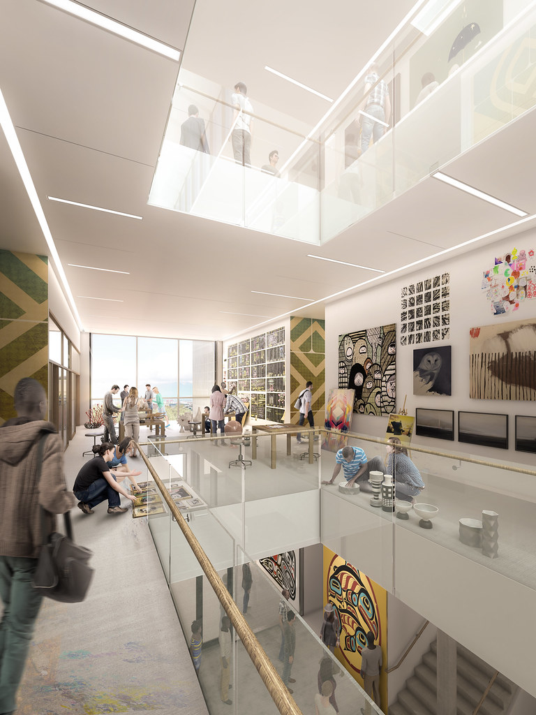 Interior images of new Emily Carr campus