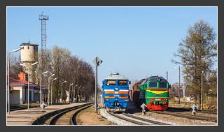 2TE116 meets M62, Valmiera, 04.May 2013