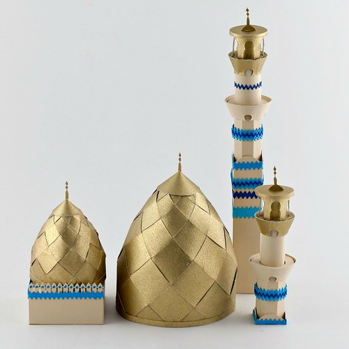 Paper Sculpture Mosque by Julianna Szabo