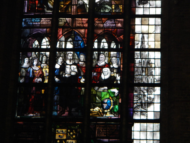 Stained Glass Windows in the New Church in Delft, Holland