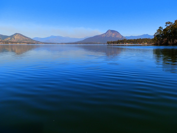 Lake Moogerah with Smoke Haze, Scenic Rim, Queensland