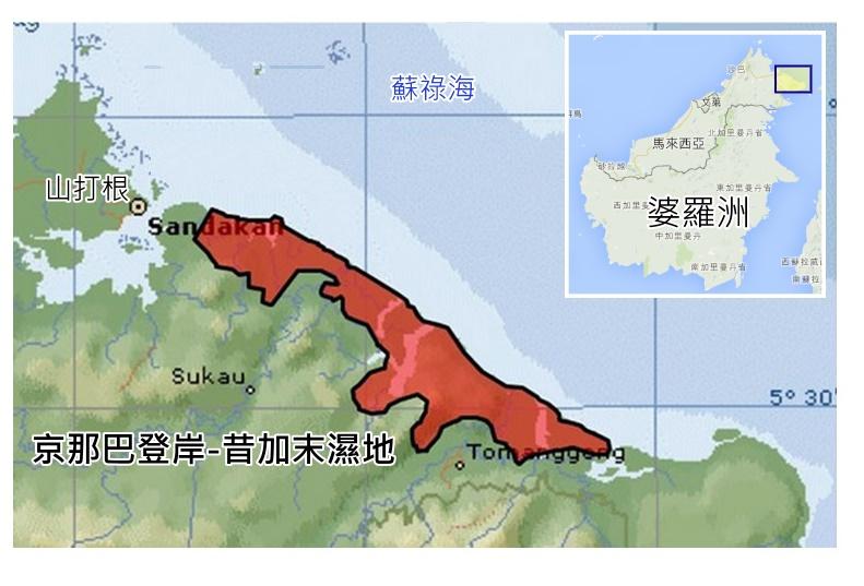 馬來西亞京那峇昔加末濕地。(沙巴生物多樣性中心提供)