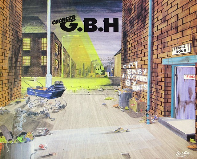 "CHARGED G.B.H. CITY BABY ATTACKED BY RATS ORIG CUSTOM INNER SLEEVE 12"" LP VINYL"