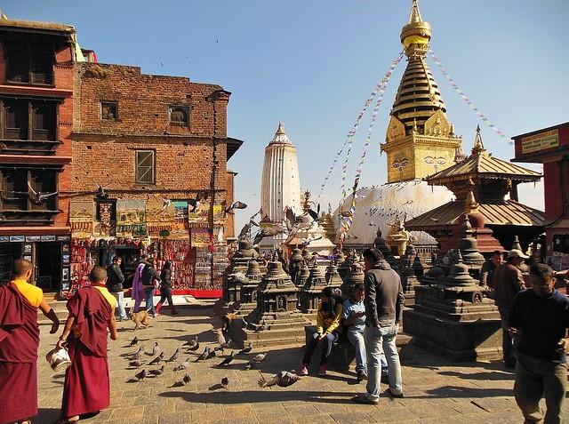 NEPAL, Kathmandu , Stupa von Swayambhunath 5112
