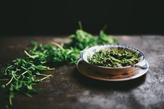 fenugreek mint and pea shoot pesto | A Brown Table