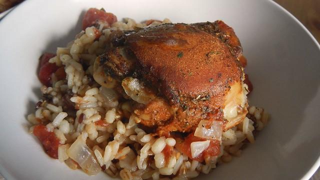 One Dish Chicken Rice Tomato 17