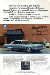 1973 Oldsmobile Ninety-Eight 98 Advertisement National Geographic December 1972