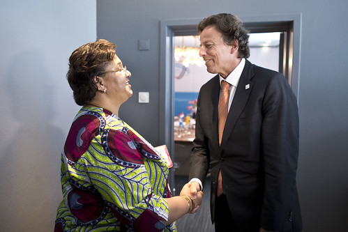 14. Meetings minister Koenders with leaders