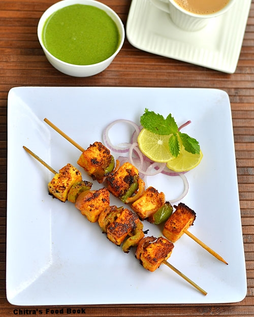 Paneer tikka recipe in gas stove