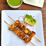 Paneer tikka recipe-stove top version & Green chutney