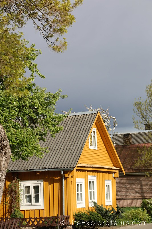 Yellow house in Trakai