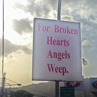 For broken hearts, angels weep