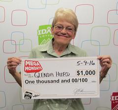 Glenda Hurd - $1,000 Mega Mondays