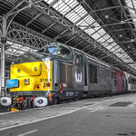 Class 37884 Europhoenix working Rail Operations Group at Preston Station 12.02.2016 Ultimate Photo Retro Clarity Shoot