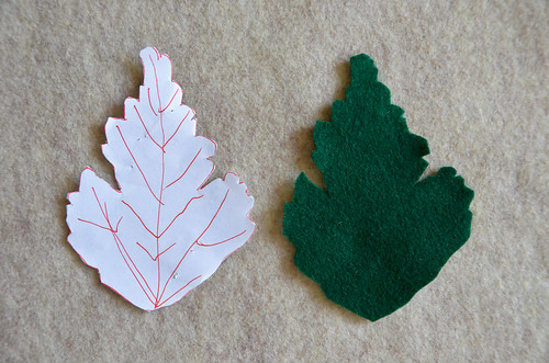 Step 2: Cut leaf out of felt