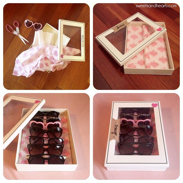 Sweets & Hearts: DIY Sunglasses and Glasses Display Box Organizer Case Tutorial