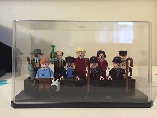 Tintin customs display case