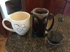 Fingers crossed for tasty French press coffee!
