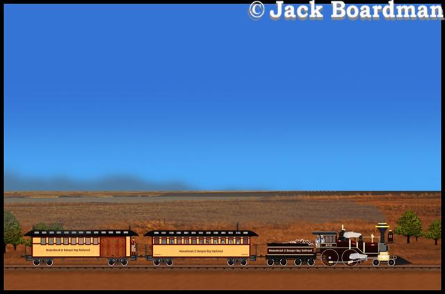 Adventure Train was streaking across the Kansas Prairie