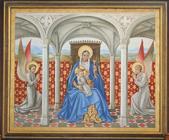 reredos: Blessed Virgin and child