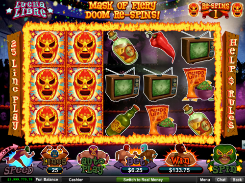 free Lucha Libre slot bonus feature