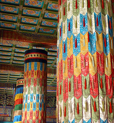 Colors of the Lama Temple in Beijing, China
