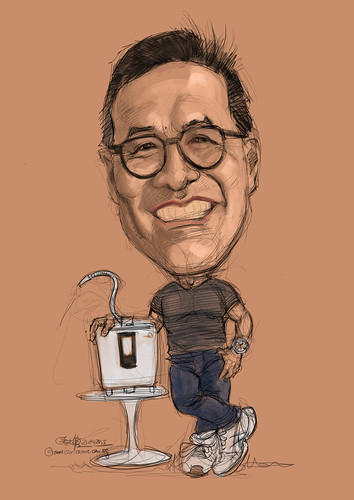 Bernard Chan digital caricature painting with Kangen 8 - 2