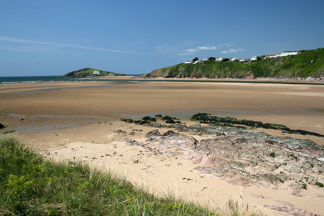 The beach at Bantham
