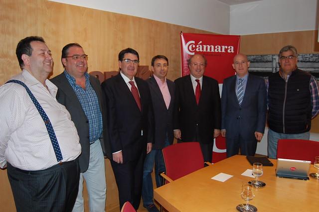 Reunión de la Cámara de Comercio y Confaes con PSOE