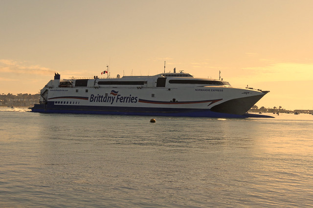 Brittany Ferries Normandie Express passing Brownsea Island