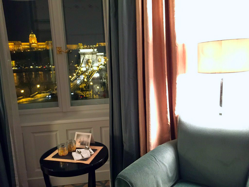 Gresham Palace Budapest, our room view