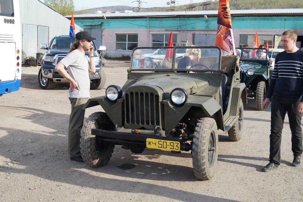 ГАЗ-67 на автопробеге в Красноярске
