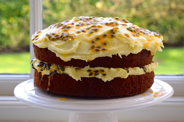 Springtime Fresh Passion Fruit Buttercream & Chocolate Cake