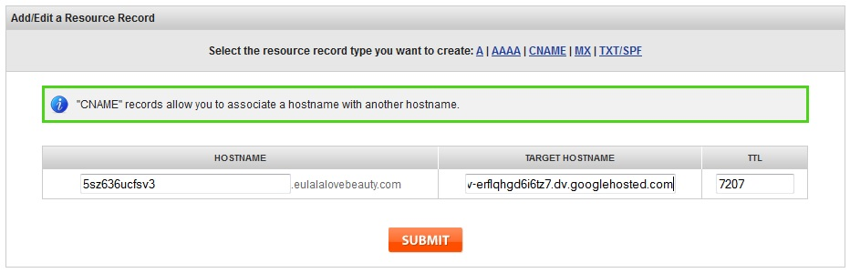 How to Setup Custom Domain on Blogger - adding second cname