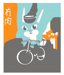 Chow Vegan Bike Bunny Logo