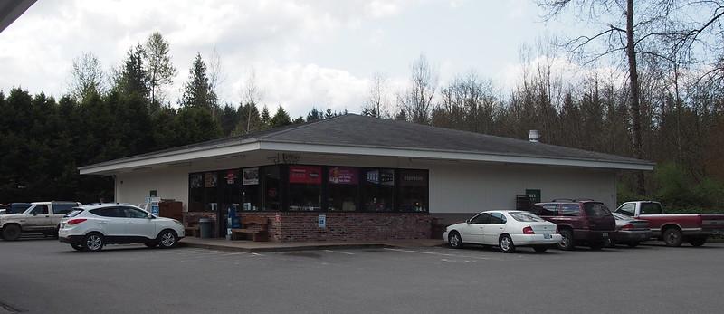 Burnett Gas Station: The last chain gas station before Mount Rainier National Park.