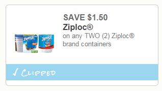 Coupon - Ziploc Containers