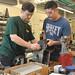 Dr. Petru Aurelian Simionescu assists senior student Josh Chapa with his capstone project.