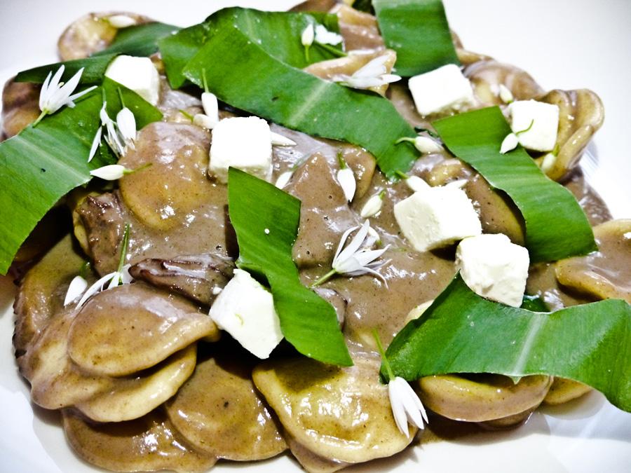 Braised-morels-and-wild-garlic-orecchiette-main,-Berners-Tavern,-London