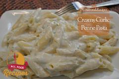 Creamy Garlic Penne Pasta