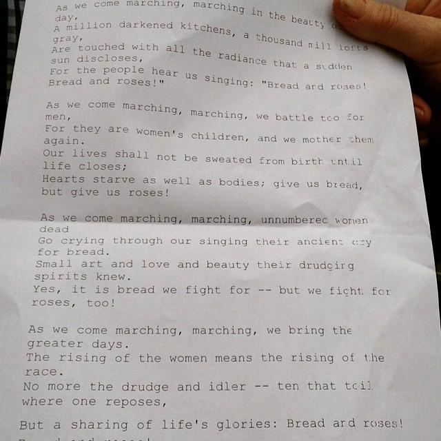 A cantare  Bread and roses il #25aprile