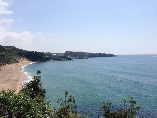 My first glimpse of Jungmun Beach