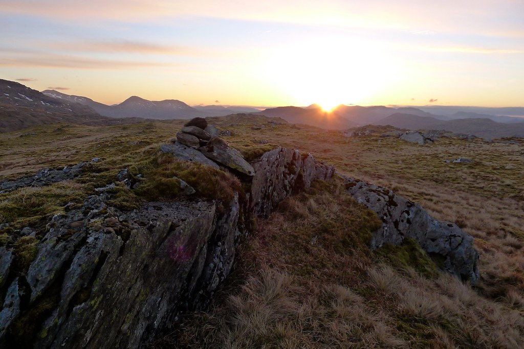 Sunrise from the summit of Beinn Chas