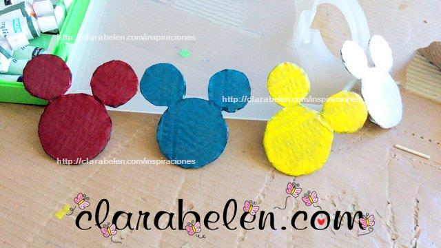 Como dibujar silueta de cabeza de Mickey Mouse