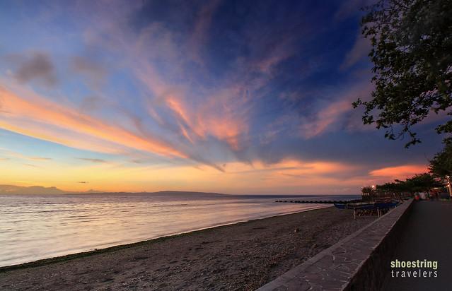 sunrise at the baywalk, Rizal Blvd., Dumaguete City, Negros Oriental